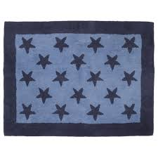 blue stars wool rug at laura ashley