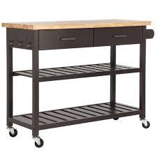 kitchen storage island cart homegear open storage kitchen storage cart island with rubberwood