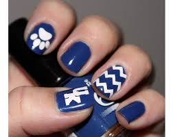 uk wildcats fingernail stickers set chevron nail decal
