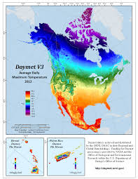 United States Temp Map by Daymet Daily Surface Weather Data On A 1 Km Grid For North