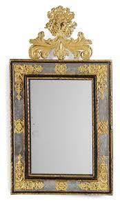 espejo italiano barroco dorado de metal y cristal montado