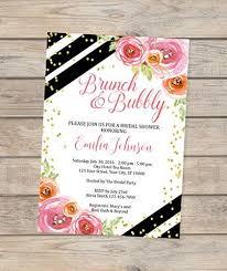 bridal shower invitations brunch brunch and bubbly bridal shower invitation black and