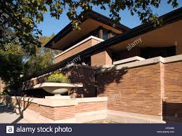 the robie house by frank lloyd wright hyde park chicago stock