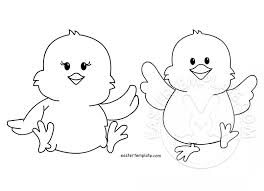 two easter coloring page kids easter template
