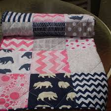 Pink And Blue Girls Bedding by Best Navy Chevron Bedding Products On Wanelo
