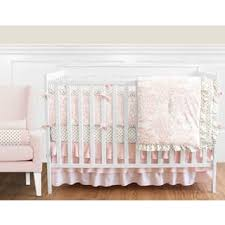Pink Brown Crib Bedding Bedding Sets For Less Overstock