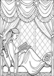 coloring child princess princess coloring pages 004