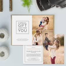 photography studio gift certificate templates gift card templates