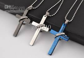 man titanium necklace images Wholesale new titanium stainless steel bible cross pendant jpg