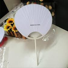 cheap paper fans 2018 wholesale cheap 2015 style white paper