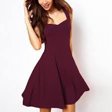 party dress maroon flare party dress fray