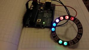 arduino rgb led clock with adafruit neopixel ring youtube