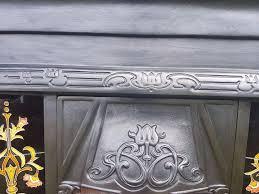 134 cast iron surround victorian style tiled insert antique