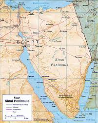 Physical Africa Map by Map Of Sinai Peninsula Egypt Travel