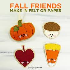 fall friends autumn felt ornaments and cards maker
