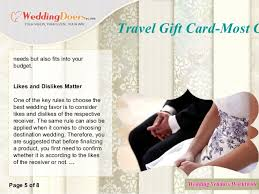 wedding gift one year rule travel gift card most charming honeymoon wedding gift