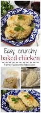 easy crunchy baked chicken family food on the table
