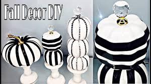 pumpkin black and white pumpkin diy dollar tree fall black and white pumpkin decor youtube