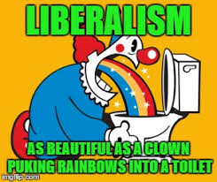 Meme Puking Rainbow - image tagged in memes clowns liberalism puking in a toilet imgflip