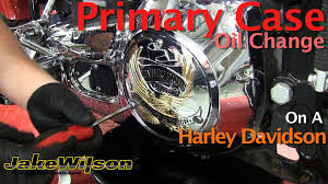 harley davidson primary case oil change u0026 primary chain adjustment