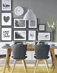 32 More Stunning Scandinavian Dining Rooms Grey Modern Dining Room With Wonderful Wall Decor Follow Adorable