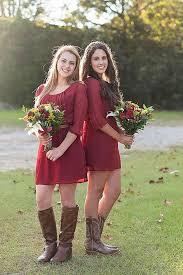 casual rustic wedding dresses fall wedding maroon bridesmaid dress bridesmaid dress with