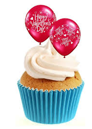 valentines day baloons happy valentines day balloons stand up toppers sprinkles and