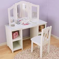 childrens dressing table mirror with lights useful vanity table chair kidkraft deluxe walmart com lakaysports