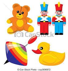 toys set of vector images children s toys vector illustration