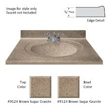 us marble recessed oval standard brown sugar cultured marble