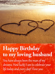 i am lucky to celebrate happy birthday wishes card for husband