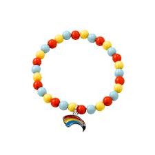 rainbows bead bracelet rainbow gifts and fun badges girlguiding