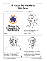 my book about abraham lincoln presidents u0027 day printable 2nd 4th
