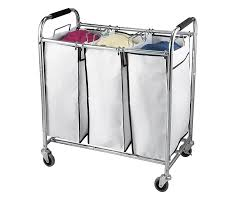 amazon com saganizer hamper with wheels rolling cart heavy duty