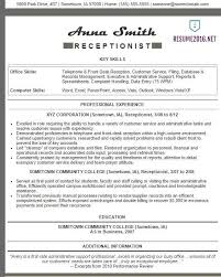 resume samples for bilingual receptionist best resumes curiculum