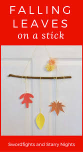 falling leaves stick quick u0026 easy fall diy project free