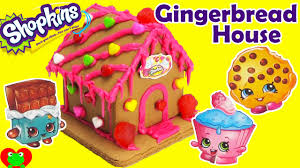shopkins gingerbread house kit sweets shop with kooky cookie and