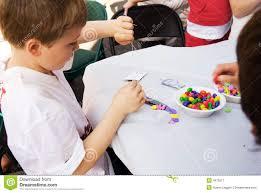 kids doing crafts stock image image 4673511