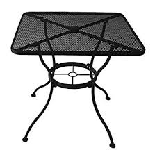 square outdoor dining table amazon com heavy duty steel frame with black powder coated finish