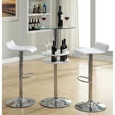 Bar Table And Chairs White Bar Table Set W Wine Storage Coaster Furniture Furniturepick