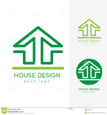 modern house logo design template flat simple stock vector image