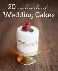 individual wedding cakes weddbook