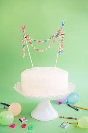 and chain cake topper mini paper chain cake topper diy