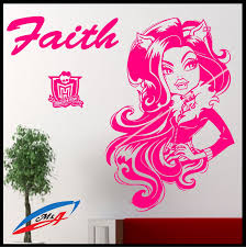 wall art sticker decals wall decor children u0027s bedroom monster high
