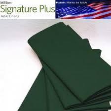 forest green table linens signature plus table napkins 100 spun milliken polyester 21 x 21