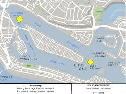Anchorage Map Newport Local News Trial Program To Anchor West Of Lido Isle