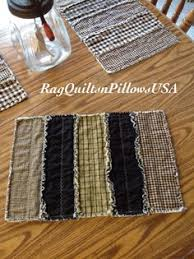 Primitive Table Runners by Red Country Placemats Set 4 Quilted Placemats Primitive