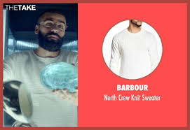 oscar isaac barbour north crew knit sweater from ex machina thetake