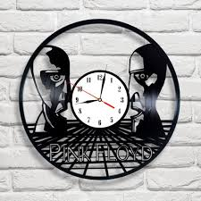 pink floyd the division bell design vinyl record clock home decor