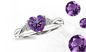 amethyst heart rings images Birthstone jewelry birthstone rings earrings necklaces bracelets jpg
